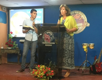 Preaching on revival in Tegucigalpa. God showed up!