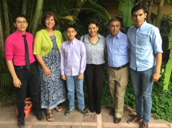 I am with Pastors Guillermo and Cristina Flores and their family. Love being with them and their church.