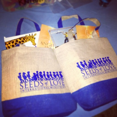 Seeds of Love IM blessed the teachers with Gift Bags filled with teaching supplies, a children book and Dr. Michael Jacobs book on Angels. They were thrilled.
