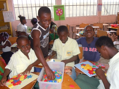 We had a rewarding day teaching the students with games and puzzles. They usually don't have access to these.