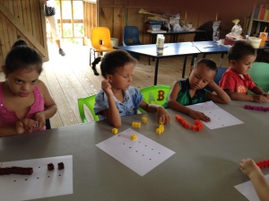 Unifix cubes made learning numbers colorful and creative. It is a blessing giving these children this experience to learn but even more to train the teachers with new methods.
